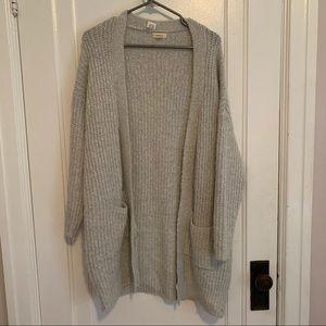 Grey knot cardigan